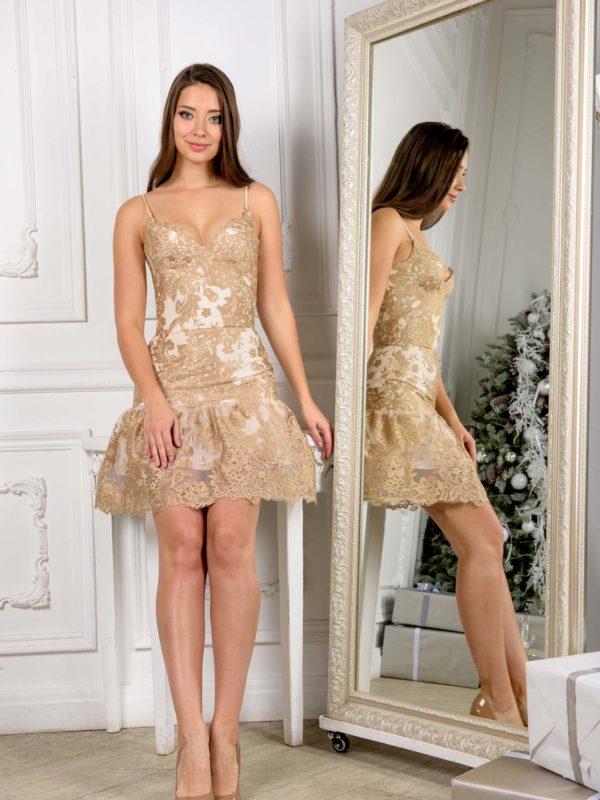 Корсетное платье на новый год из Итальянской сетки